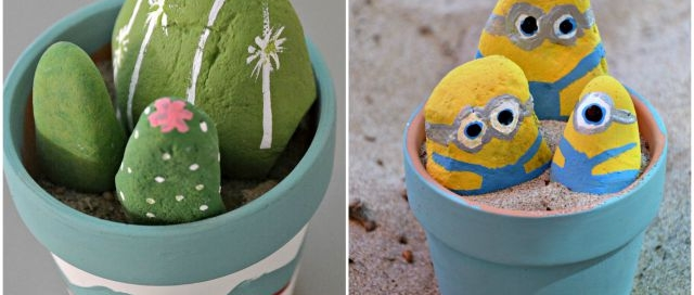 Painted Rocks - from cacti to Minions, our cottage weekend lead to a ton of rock art.