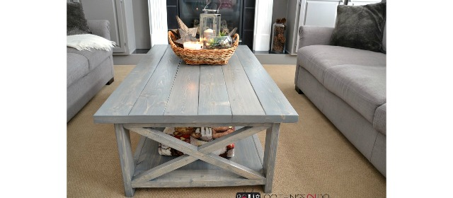 DIY Rustic X Coffee Table - Build it yourself in an afternoon!