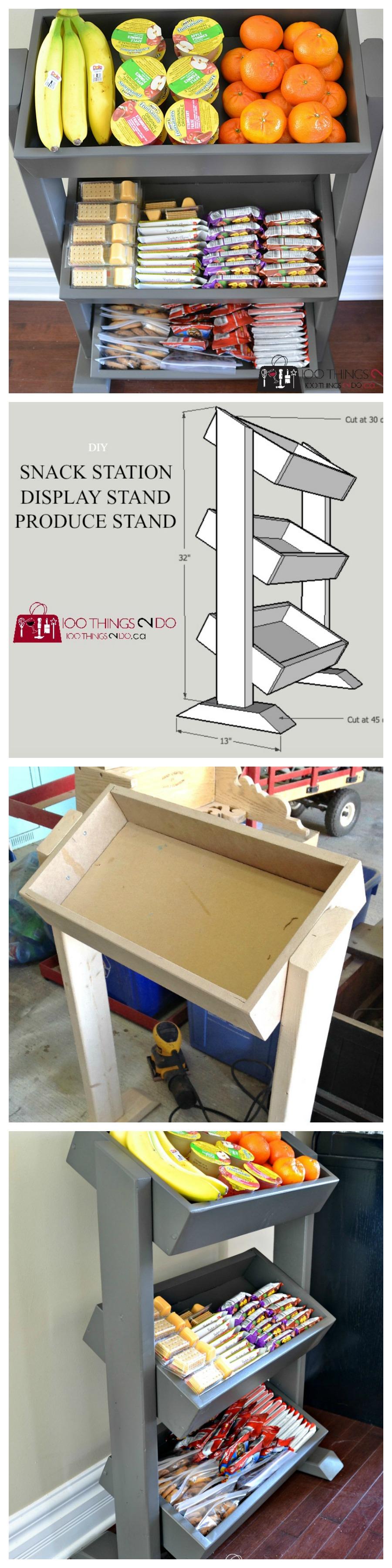 DIY Snack Station DIY Produce Stand DIY Display Stand