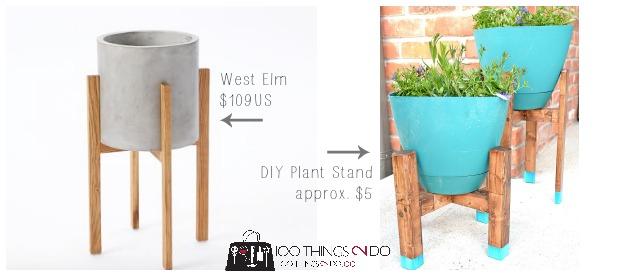 Mid Century Modern Planter Ideas: West Elm Knock-off