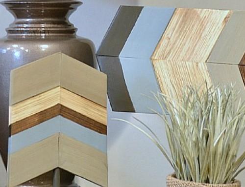 Chevron Home Decor / Wood Chevron Decor
