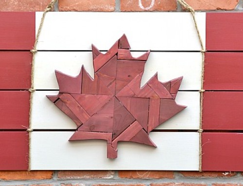 Canadian Flag – scrap wood Canadiana