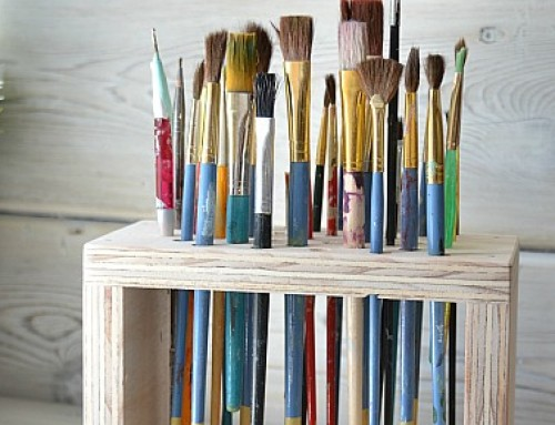 Paint Brush Storage Rack