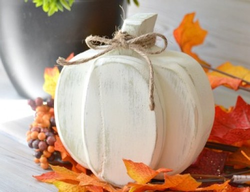 Fall Decor – Scrap wood pumpkin