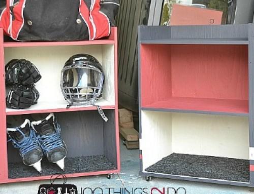DIY Hockey Storage Rack