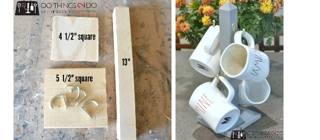 diy mug stand 100 things 2 do. Black Bedroom Furniture Sets. Home Design Ideas