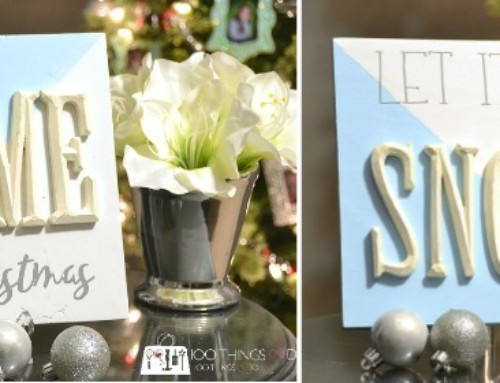 Let It Snow Raised Letter sign