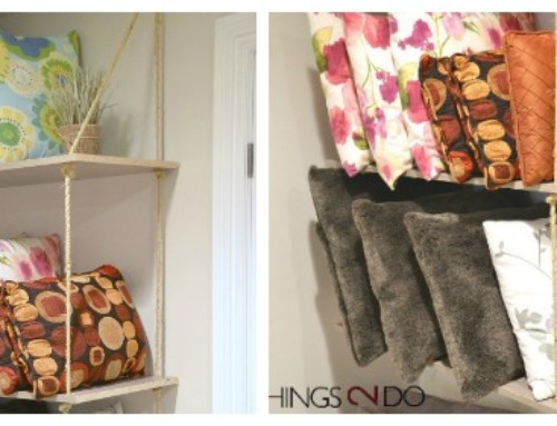 Throw Pillow Storage / DIY Rope Shelves