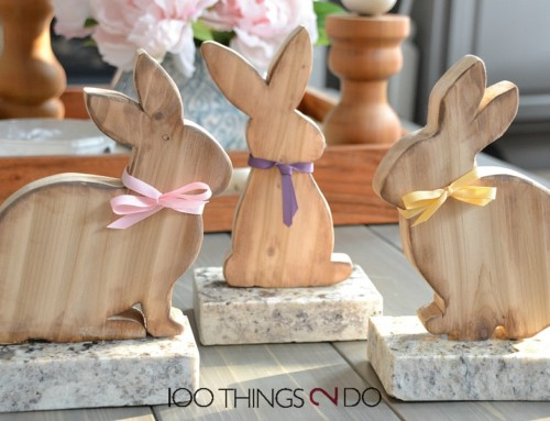Easter Decor – HomeSense Wood Bunnies