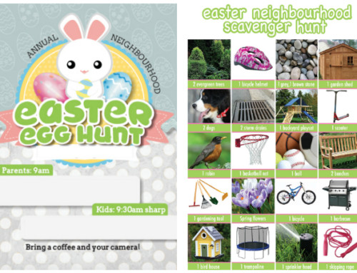 Easter Egg Hunt Invitation and Easter Scavenger Hunt printable