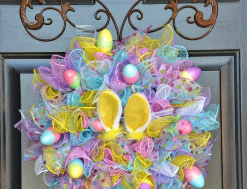 Easy Easter Wreath – using dollar store items