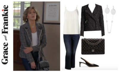 Grace & Frankie, Jane Fonda's wardrobe, shop Grace & Frankie, shop the show, Grace & Frankie style