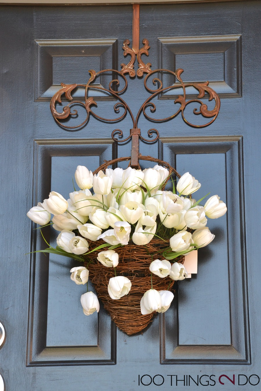 Spring front porch, spring porch, bring some Spring to your door, front door decor