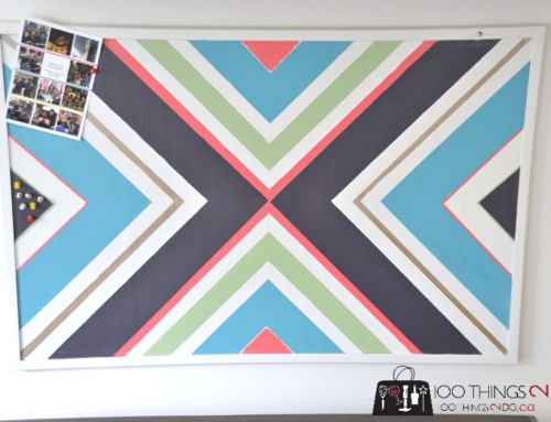 Cork Board Makeover