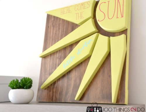 Scrap Wood Sign – Here Comes the Sun