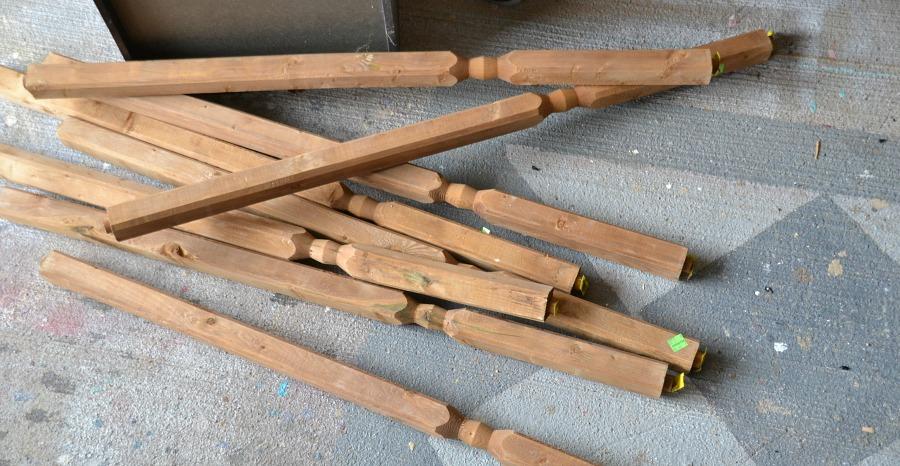 Deck spindles, Habitat for Humanity ReStore - London