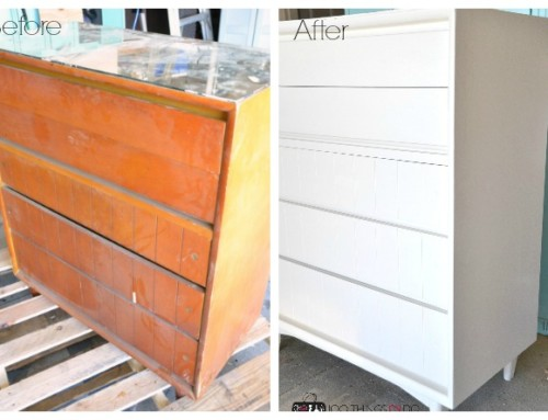 Refinished Dresser : The White Knight