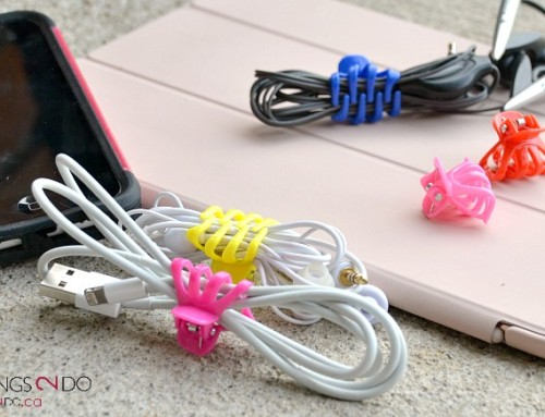 Organizing Cords with Dollar Store Clips