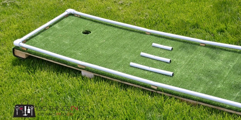 DIY mini-golf, mini-golf, mini-putt, DIY mini-putt, backyard games, backyard fun, DIY backyard games