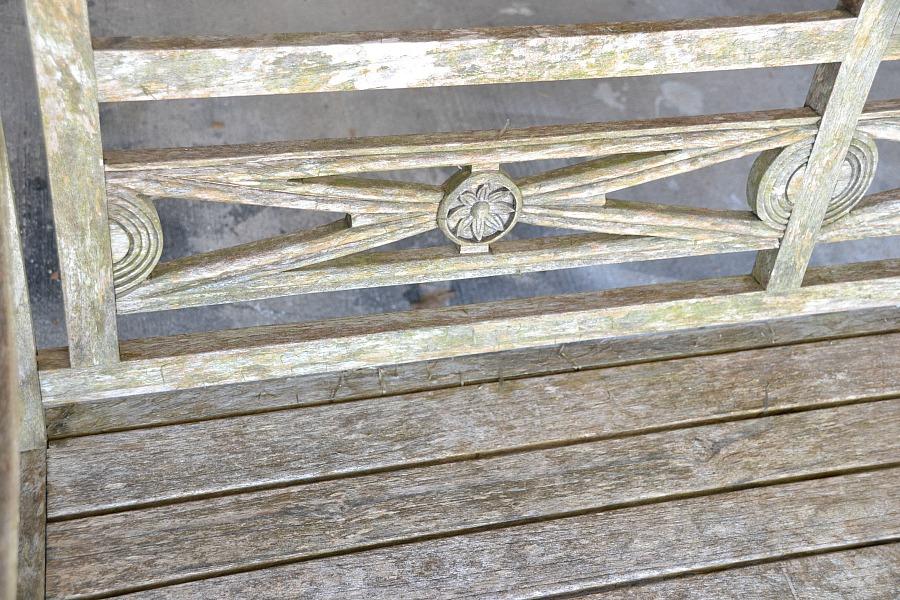 garden bench, garden bench makeover, before and after garden bench, bench, Rustoleum