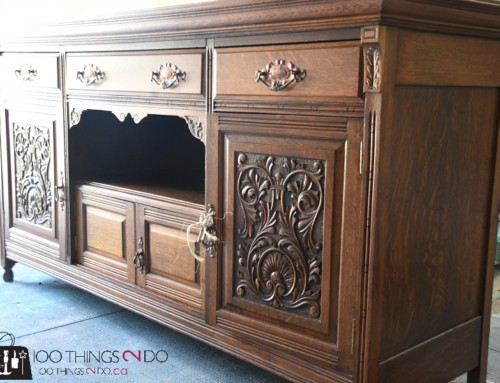Dining Room Buffet / Sideboard Makeover with Smart Strip