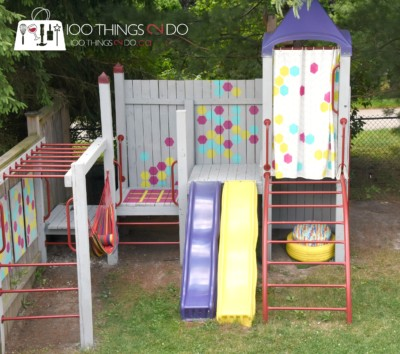 Backyard playground, playset, treehouse, upgrading your play set, playground makeover, Tweening up your backyard playground, ideas for adding life to your backyard playset