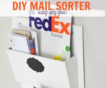 DIY mail sorter, mail sorter, mail organizer, command centre, mail slots, mail pockets, file organizer