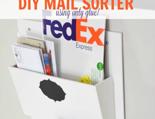Make this DIY mail sorter using glue!