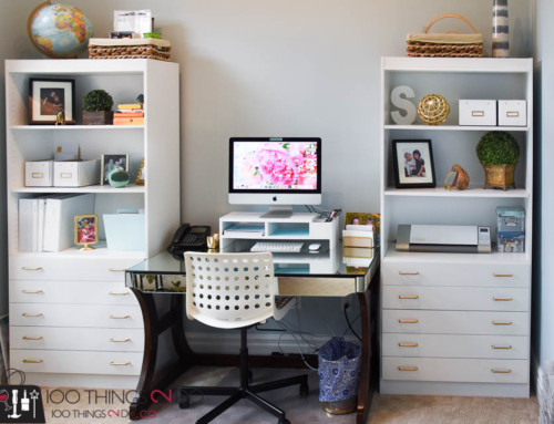 Home Office – bookshelf makeover