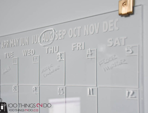 Home Office – Erasable Calendar