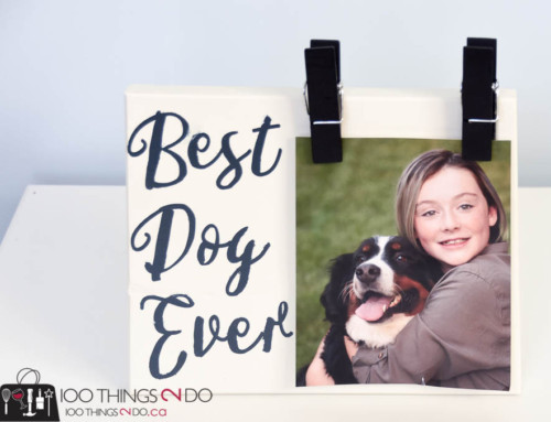 Best Dog Ever!  (a DIY photo frame)