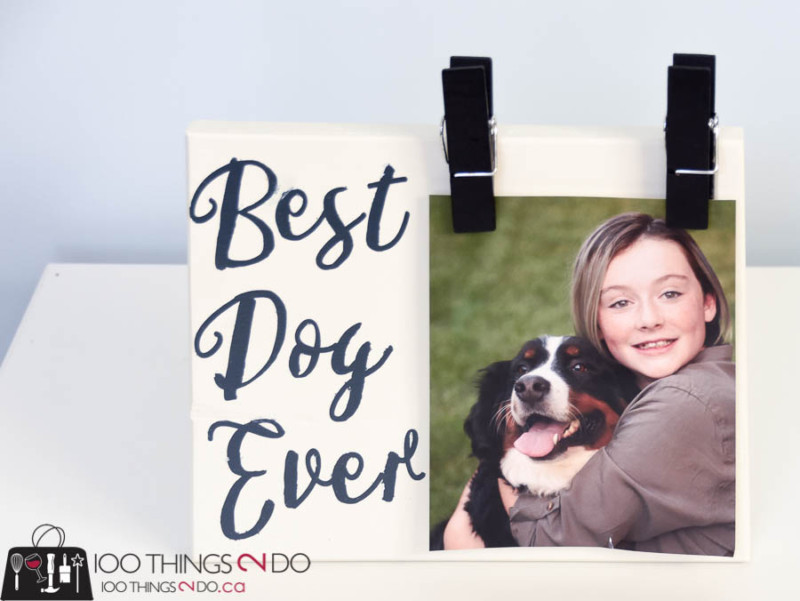 Scrap wood frame, scrap wood project, best dog ever, easy photo frame, DIY photo frame, pet frame