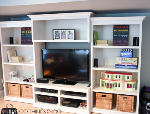 Kari's Cabinets Re-invented – Painted Entertainment Center