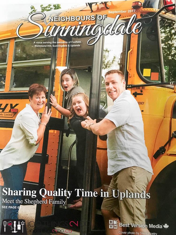 Neighbours of Sunningdale, Neighbours of Sunningdale magazine, September 2017 Neighbours of Sunningdale, Shepherd Family