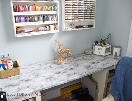 One Room Challenge – Week 5 – Marble workspace
