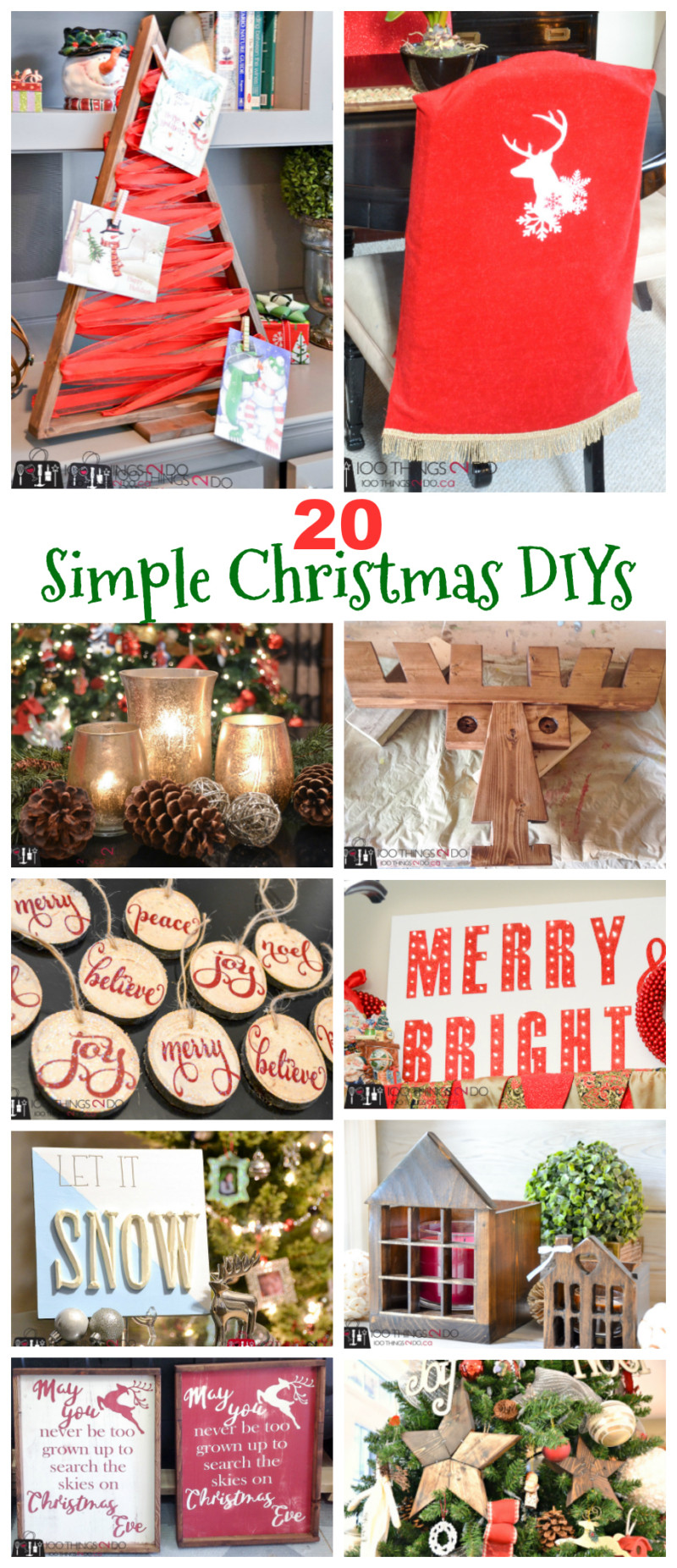 20 Simple Christmas DIYs, Christmas DIY, Easy Christmas crafts, DIY Christmas decor