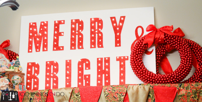 Christmas marquee, DIY marquee sign, Merry and bright marquee