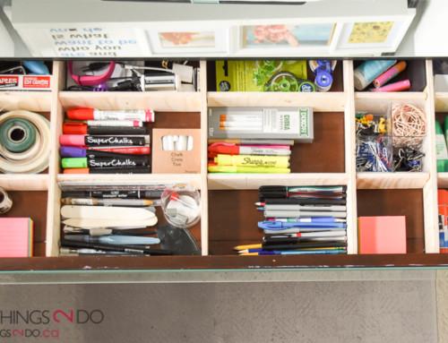 Scrapwood drawer organizer