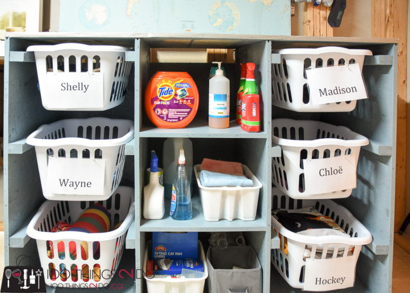 Laundry room, laundry dresser, folding table, laundry basket storage, laundry room organization