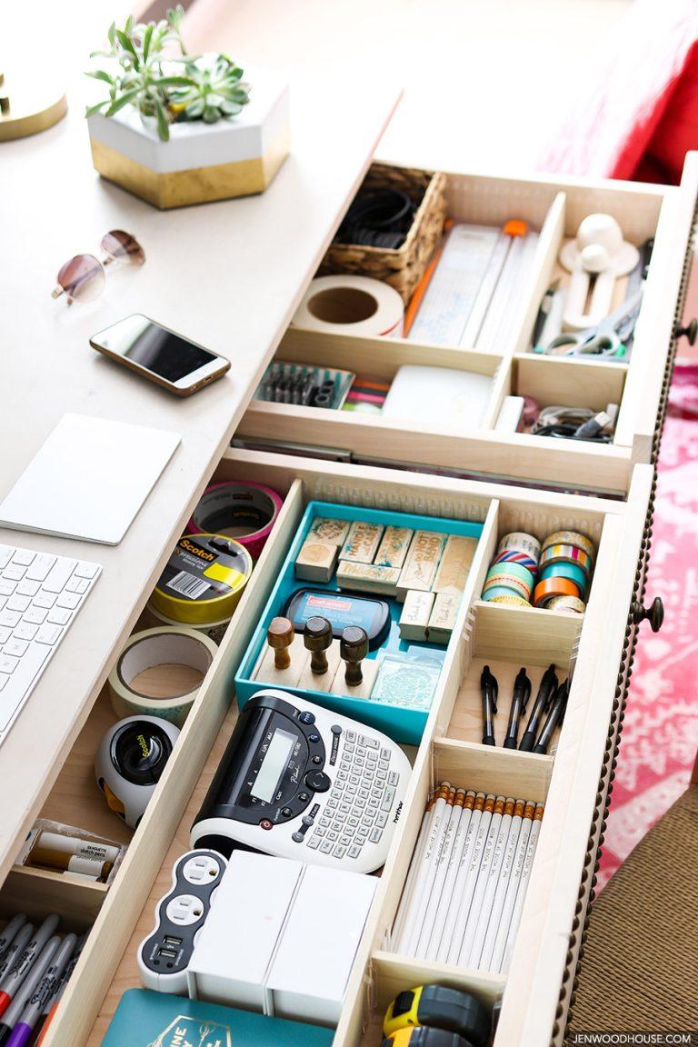 Jen Woodhouse drawer organizer, desk organizer