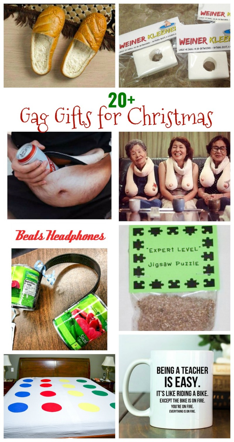 Gag Gift ideas, white elephant gift, gag Christmas gifts, funny gift ideas