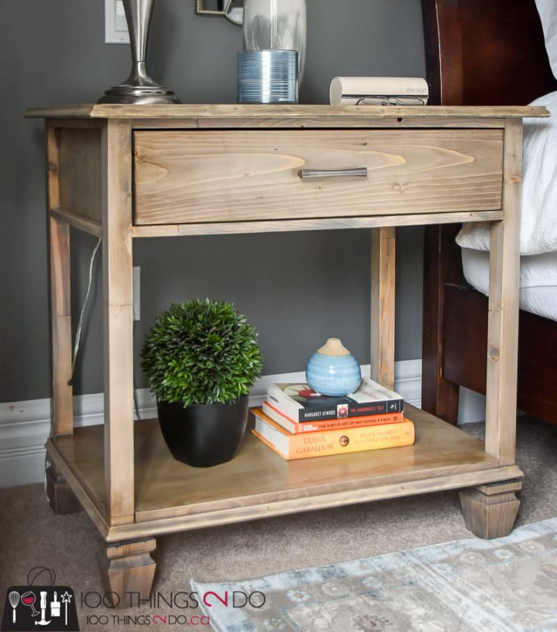 DIY Nightstand, DIY bedside table, Pottery Barn Sausalito, Pottery Barn knock-off, Sausalito extra-wide bedside table, Sausalito nightstand