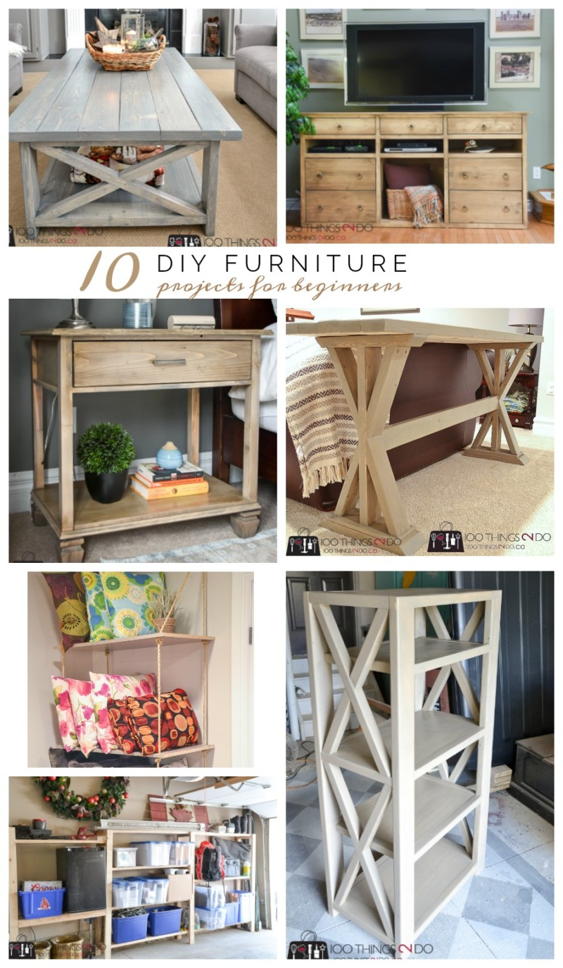 10 diy furniture projects for beginners 100 things 2 do