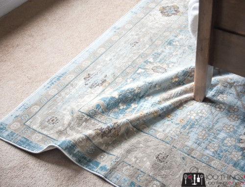 How to keep an area rug from moving around