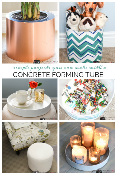 Simple projects you can make with a concrete forming tube, concrete form projects, DIYs with a concrete form