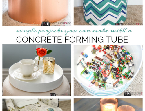Concrete form ideas – fabric hamper, copper planter and more!