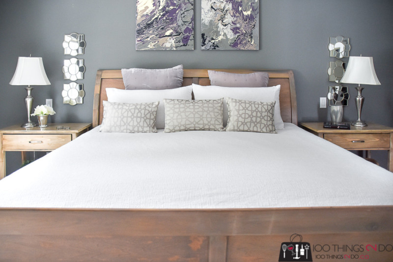 Headboard makeover, refinishing your headboard, refinished headboard