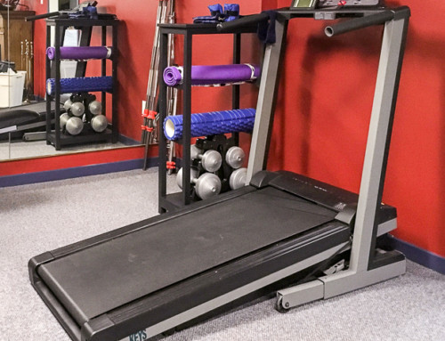 Yoga Mat Storage / Treadmill table