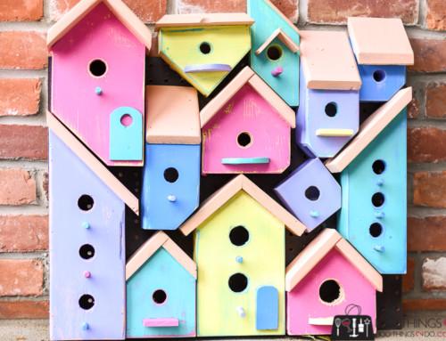 Wood Art Challenge – Birdhouse Collage