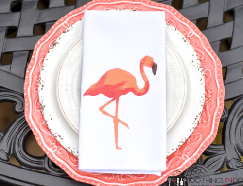 DIY Napkins – with flamingo flare!